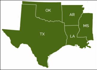 Map Of Texas Louisiana And Mississippi.Regional Map Texas Oklahoma Louisiana Arkansas Www Picturesso Com
